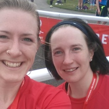 Me and Becky, happy Warwick HM finishers!