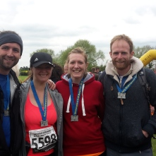 Chris, Amy, me and Tom proudly showing off our medals :-)