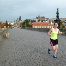 Running over the Charles Bridge!