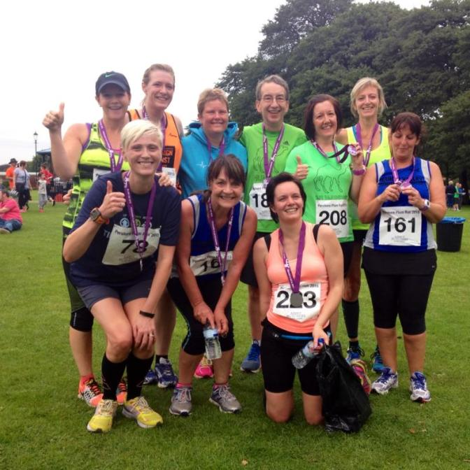 Arrow Valley parkrunners on tour (Photo by Katie Earles)