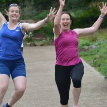 Tomfoolery at Walsall Arboretum parkrun (Photo © Richard Gallois)