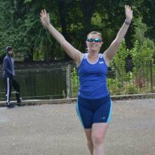 Woop woop! Finished my third and final parkrun of the day! (Photo © Richard Gallois)