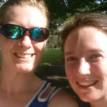 Me and Becky after my #2, her #3 at Perry Hall park in Birmingham
