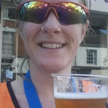 Post-race refreshment! (It was alcohol-free - well, it was only 11am!)